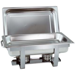 1- 4 Stk. im Set Chafing Dish mit 1/1 GN-Behälter 65mm tief stapelbarer Speisenwärmer mit runden Griffen