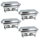 4 Stück Chafing Dish 4331 incl. GN-Behälter 1/1 65mm