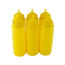 6er Set Quetschflasche Gelb 0,95 Liter