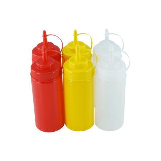 6er Set Quetschflasche R/G/T 0,45 Liter