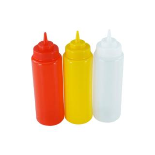 3er Set Quetschflasche R/G/T 0,95 Liter