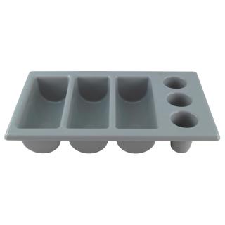 Besteckkasten mit sechs Einteilungen, 1/1 GN, Polyethylen