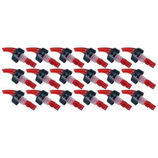 18 Stk. Ausgießer 4 cl. Schnapsausgießer Portionierer Dosierer für Flaschen - Ausgiesser aus Kunststoff