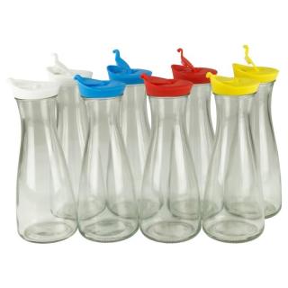 Wasserkaraffe Glas Karaffe Dekanter Saftkanne Wasserkrug 1 Liter im Set