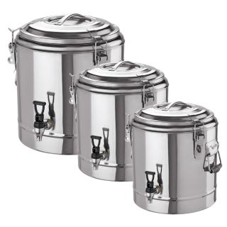 Thermogetränkebehälter Edelstahl 18/10 12 L, 22 L und 35 Liter