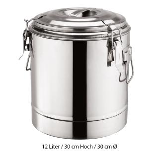 Doppelwandiger Thermospeisebehälter aus Edelstahl 12 Liter
