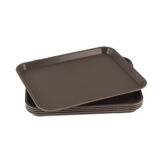 GN-Tablett 1/2 GN 5 Stück braun