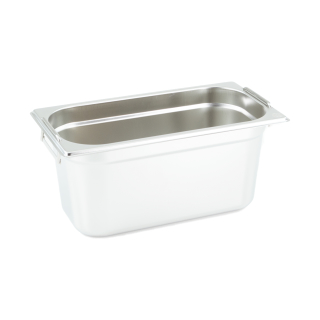 GN Behälter Gastronorm 1/3 150 mm mit Fallgriffe aus Edelstahl GVK ECO
