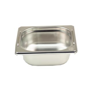 GN Behälter Gastronorm 1/6 65 mm mit Fallgriffe aus Edelstahl GVK ECO