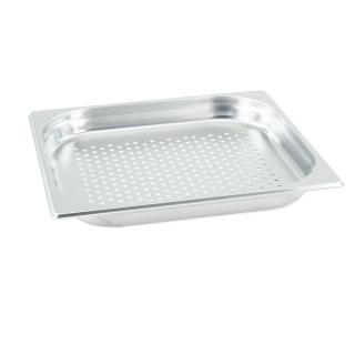GN Behälter Gastronorm 2/3 40 mm gelocht/perforiert aus Edelstahl GVK ECO