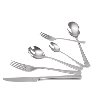 Solex Karina Besteckset 72 teilig für 12 Personen inklusive Suppenlöffel