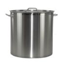 Profi Kochtopf aus Edelstahl inklusive Deckel 12 - 169 Liter mit Randverstärkung