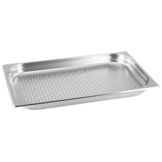 GN Behälter Gastronorm 1/1 40 mm gelocht/perforiert aus Edelstahl GVK ECO