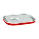 GN Deckel Gastronorm 1/2 mit Silikonring aus Edelstahl...