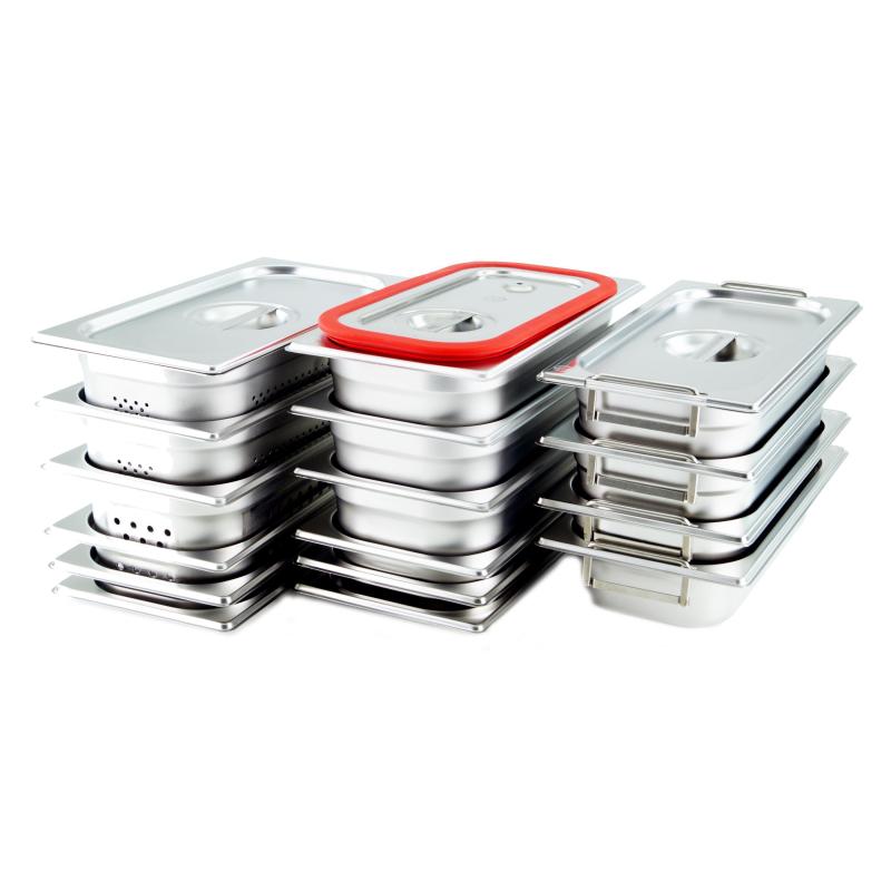 GN 1//3 Gastronormbehälter GN-Behälter Edelstahl 5,7 Liter Tiefe 150mm GELOCHT