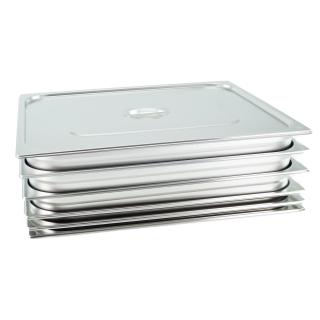 GN Behälter Gastronorm Behälter 2/1 20mm - 200mm Tiefe aus Edelstahl - ungelochte Behälter - oder Deckel