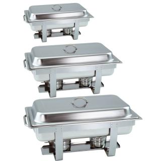 3 Stück Chafing Dish 6331 incl. GN-Behälter 1/1 65mm
