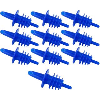 10 Stk. Ausgießer für Flaschen - aus Kunststoff mit Lüftungsrohr - blau