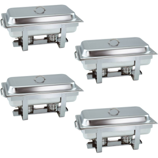 4 Stück Chafing Dish 6331 incl. GN-Behälter 1/1 65mm