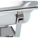 1- 4 Stk. im Set Chafing Dish mit 1/1 GN-Behälter 65mm tief stapelbarer Speisenwärmer mit eckigen Griffen