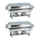 2 Stück Chafing Dish 4331 incl. GN-Behälter 1/1 65mm