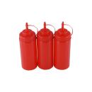 3er Set Quetschflasche Rot 0,45 Liter
