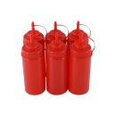 6er Set Quetschflasche Rot 0,45 Liter