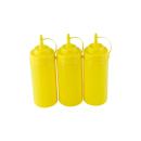 3er Set Quetschflasche Gelb 0,45 Liter
