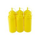6er Set Quetschflasche Gelb 0,45 Liter