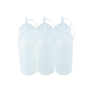 6er Set Quetschflasche Transparent 0,45 Liter