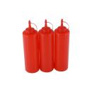 3er Set Quetschflasche Rot 0,70 Liter