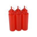 6er Set Quetschflasche Rot 0,70 Liter