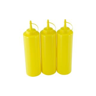 3er Set Quetschflasche Gelb 0,70 Liter