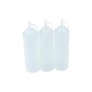 3er Set Quetschflasche Transparent 0,70 Liter