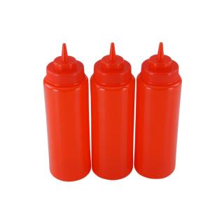 3er Set Quetschflasche Rot 0,95 Liter
