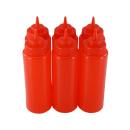 6er Set Quetschflasche Rot 0,95 Liter