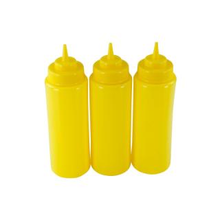 3er Set Quetschflasche Gelb 0,95 Liter